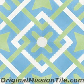 Original Mission Tile Cement Classic Cordoba 02 - 8 x 8
