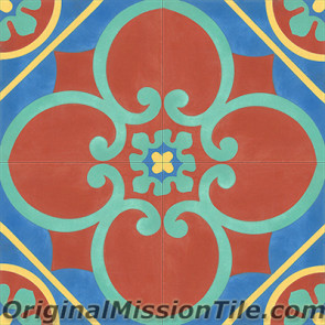 Original Mission Tile Cement Classic Cox 07 - 8 x 8