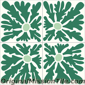 Original Mission Tile Cement Santa Barbara Dandelion - 8 x 8