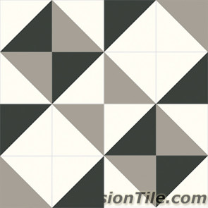 Original Mission Tile Cement Contemporary Diagonal 01 - 8 x 8