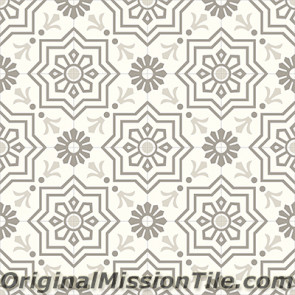 Original Mission Tile Cement Contemporary Elios 03 - 8 x 8