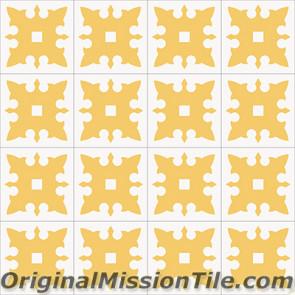 Original Mission Tile Cement Accent Escudo - 8 x 8