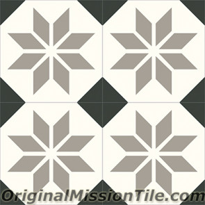 Original Mission Tile Cement Contemporary Estrella Antigua 02 - 8 x 8
