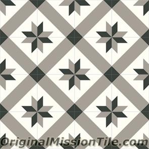 Original Mission Tile Cement Contemporary Estrella Mex 02 - 8 x 8