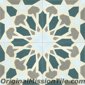 Original Mission Tile Cement Moroccan Fes - 8 x 8