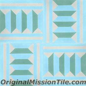 Original Mission Tile Cement Classic Harlequin B - 8 x 8