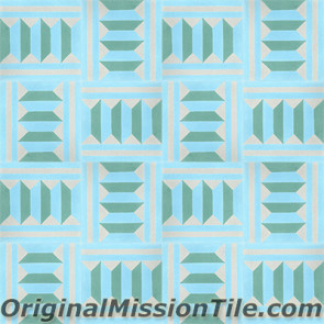 Original Mission Tile Cement Classic Harlequin B - 8 x 8