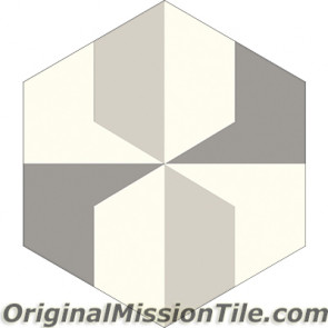 Original Mission Tile Cement Hexagonal Adele 02 - 8 x 8