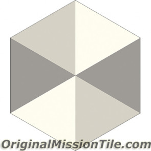 Original Mission Tile Cement Hexagonal Agatha - 8 x 8