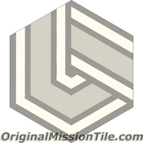 Original Mission Tile Cement Hexagonal Alexa - 8 x 8