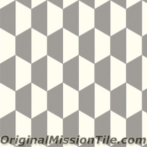 Original Mission Tile Cement Hexagonal April 01 - 8 x 8