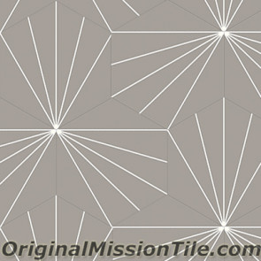 Original Mission Tile Cement Hexagonal Bakery 01 - 8 x 8