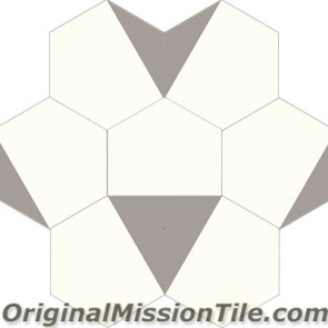 Original Mission Tile Cement Hexagonal Clip 01 - 8 x 8