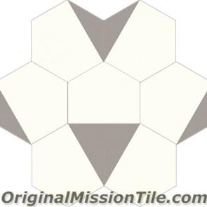 Original Mission Tile Cement Hexagonal Clip 01 - 8 x 8