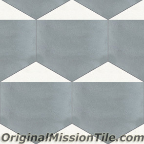Original Mission Tile Cement Hexagonal Clip 02 - 8 x 8