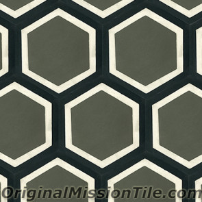 Original Mission Tile Cement Hexagonal Frame - 8 x 8