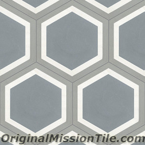 Original Mission Tile Cement Hexagonal Frame 02 - 8 x 8