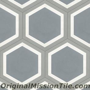 Original Mission Tile Cement Hexagonal Frame 02 - 8 x 8