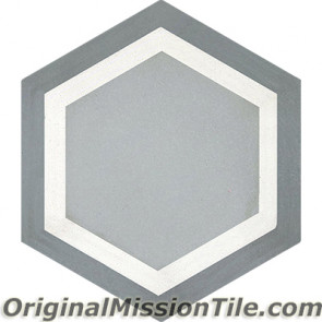 Original Mission Tile Cement Hexagonal Frame 03 - 8 x 8