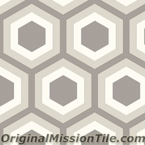 Original Mission Tile Cement Hexagonal Frame II 01 - 8 x 8