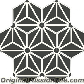 Original Mission Tile Cement Hexagonal Galaxy 01 - 8 x 8