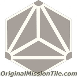 Original Mission Tile Cement Hexagonal Galaxy 02 - 8 x 8