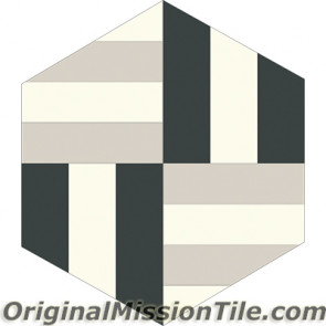 Original Mission Tile Cement Lee Hexagonal Kelly 07 - 8 x 8