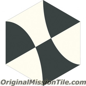 Original Mission Tile Cement Lee Hexagonal Leni 01 - 8 x 8