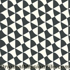 Original Mission Tile Cement Lee Hexagonal Leni 01 - 8 x 8