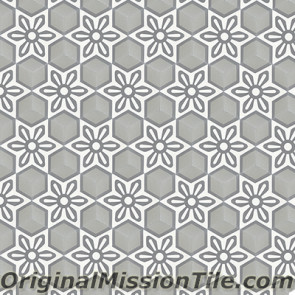 Original Mission Tile Cement Hexagonal Margarita 02 - 8 x 8