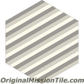Original Mission Tile Cement Lee Hexagonal Martin 07 - 8 x 8