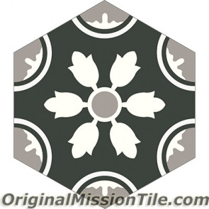 Original Mission Tile Cement Hexagonal Tejera 01 - 8 x 8
