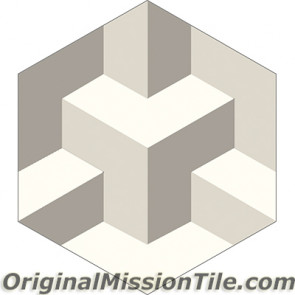 Original Mission Tile Cement Hexagonal Tridy 02 - 8 x 8