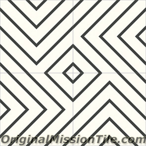 Original Mission Tile Cement Contemporary Juice 01 - 8 x 8