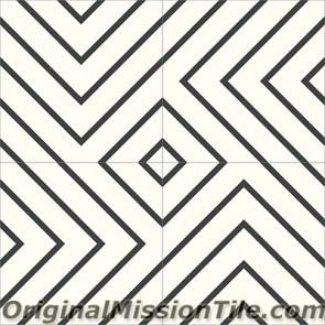 Original Mission Tile Cement Contemporary Juice 01 - 8 x 8
