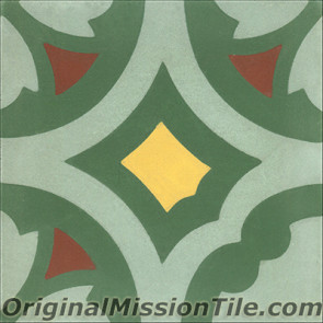 Original Mission Tile Cement Classic Laredo - 8 x 8