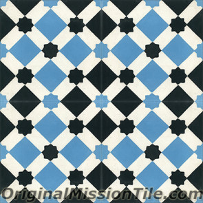 Original Mission Tile Cement Moroccan Latti - 8 x 8