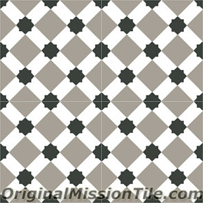 Original Mission Tile Cement Contemporary Latti 03 - 8 x 8