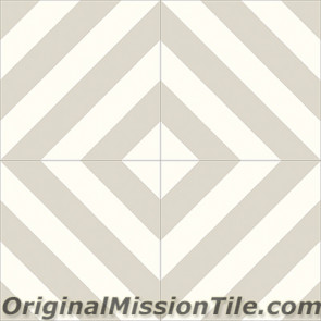 Original Mission Tile Cement Contemporary Ligne Brisee 03 - 8 x 8