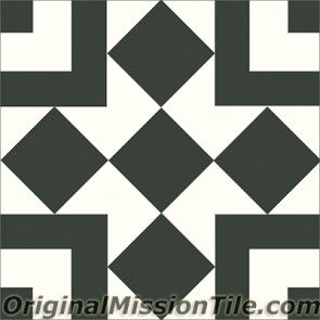 Original Mission Tile Cement Contemporary Liverpool II 01 - 8 x 8
