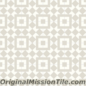 Original Mission Tile Cement Contemporary Liverpool II 02 - 8 x 8