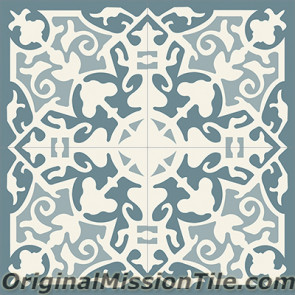 Original Mission Tile Cement Classic Madrid 02 - 8 x 8