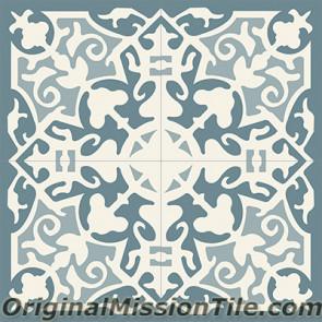Original Mission Tile Cement Classic Madrid 02 - 8 x 8