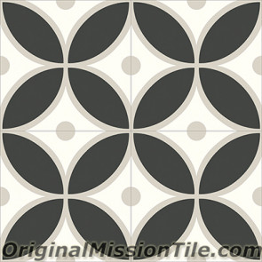 Original Mission Tile Cement Contemporary Merida 01 - 8 x 8