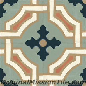 Original Mission Tile Cement Classic Monaco 01 - 8 x 8