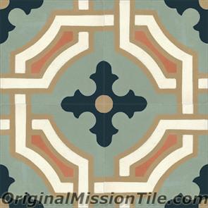 Original Mission Tile Cement Classic Monaco 01 - 8 x 8