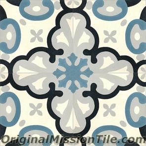 Original Mission Tile Cement Classic Montpellier 03 - 8 x 8