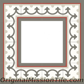 Original Mission Tile Cement Border Montserrat - 8 x 8