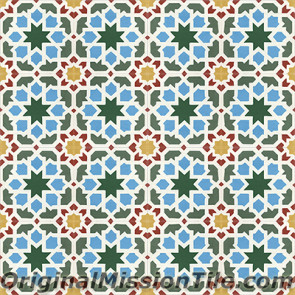 Original Mission Tile Cement Moroccan Morisco - 8 x 8