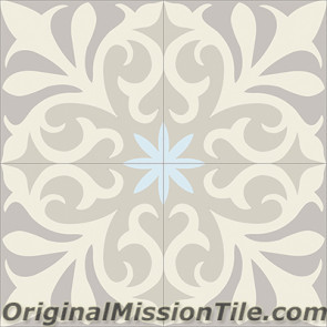 Original Mission Tile Cement Classic Nantes 02 - 8 x 8